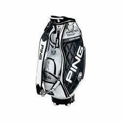 PING Golf Men's Caddy Bag KARSTEN Design 9.5 x 47 inch 4.5kg White Black CB-C202