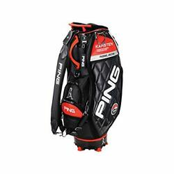 PING Golf Men's Caddy Bag KARSTEN Design 9.5 x 47 in 4.5kg Black Orange CB-C202