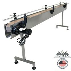 """Fortex Stainless Steel 12' X 4.5"""" Inline Packaging Conveyor With Table Top Belt"""