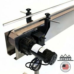 """Fortex Stainless Steel 4' X 4.5"""" Inline Packaging Conveyor With Table Top Belt"""
