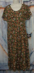 Women Floral Pop Over Casual Dress Size M Short Sleeve $7.00