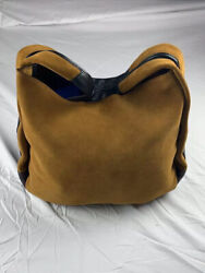 Coach Genuine Designer Fashion Womens Shoulder Handbag Tote Bag Brown Yellow