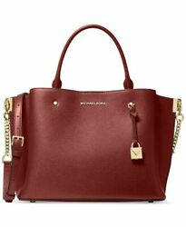 NWT MICHAEL MICHAEL KORS ARIELLE SATCHEL CROSSBODY LEATHER BRANDY GOLD $358 MSRP $199.99