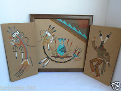 1970's South Western Sand Paintings