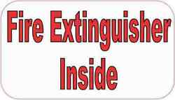 3.5in X 2in Fire Extinguisher Inside Magnet Car Truck Vehicle Magnetic Sign