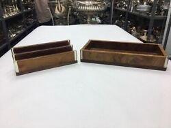 Set Of Two Accessories For Secretary Desk Vintage Modern Antiques Years 80