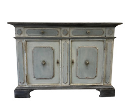 Italian Painted Blue And Gray Buffet - Early 20th C
