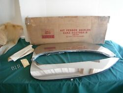 Nos 1962 Ford Galaxie 500 And Xl Stainless Fender Skirts 62