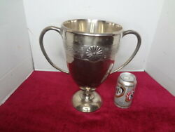 1936 Large Japanese Sterling Silver Emperors Cup Horse Racing Trophy...photoand039s