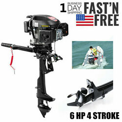 Hangkai Outboard Engine Boat Motor 6 Hp 4 Stroke 2500rpm Air Cooling System Usa