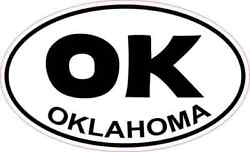 5in X 3in Oval Oklahoma Sticker Car Truck Vehicle Bumper Decal