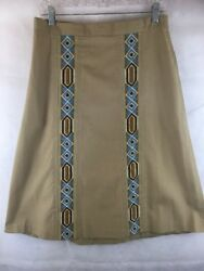 TotePoint by Toni Totes Size L Wrap Skirt With Crewel Inserts $18.60