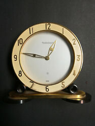 Rare Jaeger-lecoultre Table Clock With 8 Day Movement Art Deco 1940andacutes With Box