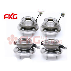 4pcs Front And Rear Wheel Hub Bearing For 07-09 Equinox Torrent Xl7 513276 512358