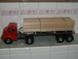 Smith Miller Fred Thompson Lrg Limited Ed Pressed Steel Lumber Tractor And Trailer