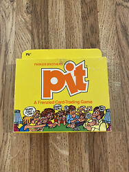 Vintage Pit A Frenzied Card Trading Game By Parker Brothers - 1983 New In Pack