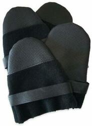 Muttluks Hott Doggers Dog Boots Shoes Black Fleece No-skid Soles New W/tags