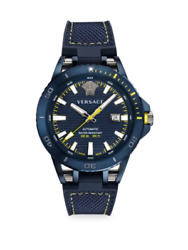 Sport Tech Diver Leather And Rubber Strap Watch Verc00218 100 Authentic