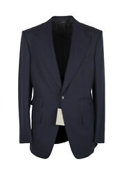 New Tom Ford Windsor Signature Solid Blue Suit Size 52 It / 42r U.s.
