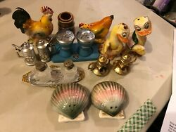 Vintage Salt And Pepper Shakers - Made In Japan Lot Of 7 Set And 1 Toothpick 2183
