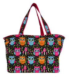 Owl Beach Tote Bag Extra Large For Women Designer Open Gym Travel Carry On $26.50