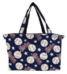 Baseball Beach Tote Bag Extra Large For Women Designer Open Gym Travel Carry On $26.50