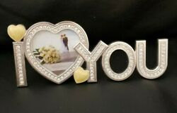 Photo Frame I Love You Metal Silver Creative Heart Shape For Your Loved Ones