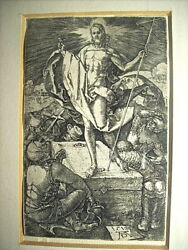 Albrecht Durer 1471 - 1528  Resurrection From The Small Passion Engraving