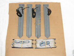 Heavy Duty 14pc Tent Hardware Kit W/ Stakes Anchors Guy Ropes