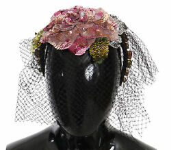 Dolce And Gabbana Diadem Netted Headband Floral Crystal Fascinator One Size 2280