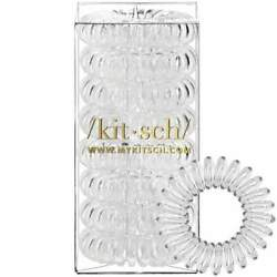 8 Pack Hair Coils - Transparent. Designed by Kitsch