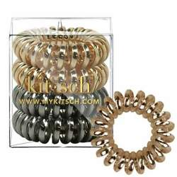 4 Pack Hair Coils - Metallic. Designed by Kitsch