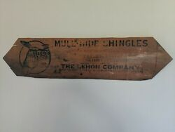 Antique 1920's Mule Hide Roofs Advertising Roofing Shingle Wood Sign Very Rare