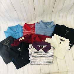 Lot Of 10 Men's Golf Polo Short Sleeve Shirts Adidas Under Armor Size Xl X-large