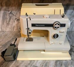 Kenmore Sears Model 148.15210 Sewing Machine W Case And Foot Pedal-rare Vintage