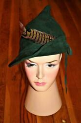 Rare Woodwardand039s Department Store Vancouver Bc 1930and039s Suede Robin Hood Kids Hat
