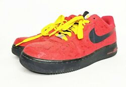 Nike Air Force 1 Miami Heat 488298-617 Red Paisley Floral Print Size 9