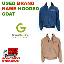 Brand Name Hooded Canvas Coat Used Cintas, Unifirst, Gandk