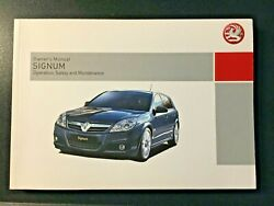 Vauxhall Signum Owners Hand Book January 2006 Operationsafety And Maintenance