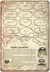 Esso Humble Tiger Country Motor Oil Ad 12 X 9 Reproduction Metal Sign A921