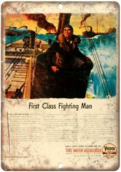 Veedol First Fighting Man Motor Oil Ad 12quot; X 9quot; Reproduction Metal Sign A886