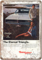 Dodge Fever 1969 Charger Car Ad 12 X 9 Retro Look Metal Sign A215