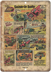 Kenner Toys Smash Up Derby Comic Book Ad 12 X 9 Retro Look Metal Sign J106