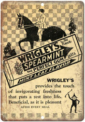 Wrigley's The Perfect Gum Vintage Ad 12 X 9 Retro Look Metal Sign N266