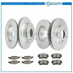 Ceramic Brake Pads And Rotors Front Rear For Ford Mustang 1999-2004