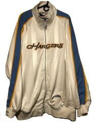 Mitchell And Ness Nfl San Diego Los Angeles Chargers Throwback Full Zip Jacket 5xl
