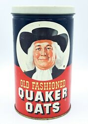 Vtg 1982 The Quaker Oats Old Fashioned Tin Canister Oatmeal Cookie Recipe 3