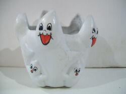 Comic Bisque Ghost Assortment 3.5 Tall Pen Pencil Candle Holder Figurine