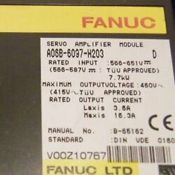 1pcs Used For Fanuc A06b-6097-h203 Servo Amplifier Tested In Good Conditionqw