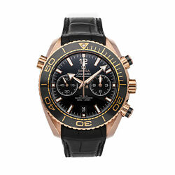 Omega Seamaster Planet Ocean Auto Gold Mens Watch Date 215.63.46.51.01.001